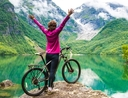 Woman finding eco-friendly ways to travel