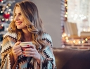 Woman sharing what she enjoys most about the holidays