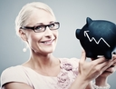 Woman getting richer with investments