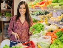 Woman sticking to her grocery budget
