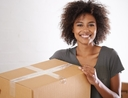 Woman taking things and leaving things behind when moving