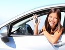 Woman saving money on her next car rental