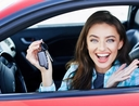 Woman learning best time to buy a new car