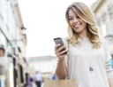 Woman using apps that pay her to shop