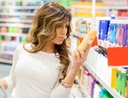 Woman avoiding buying things from the Dollar Store