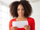 Woman wondering what to do when she gets an IRS notice