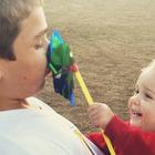 kids and pinwheel