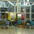 sleeping in the airport photo
