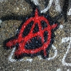 Graffiti of the anarchy symbol