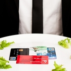 Man about to eat credit cards