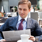 businessman lunch