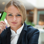 businesswoman credit card
