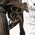 "Caduceus: Detail Of Giuseppe Moretti's 1922 Bronze ""Hygeia"" Memorial To World War Medical Personnel"