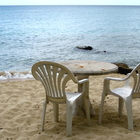 Chairs and table on the beach