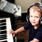 Child playing keyboard