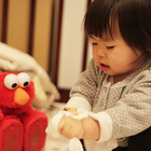 Child with Elmo