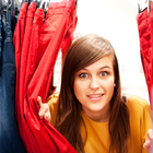 hiding in clothing rack