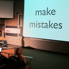 Presentation slide on making mistakes