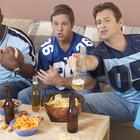 men watching football