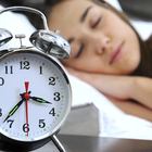 sleeping girl clock