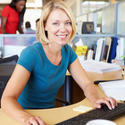 woman working office