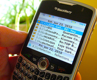 email blackberry phone