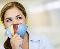 fanned credit cards
