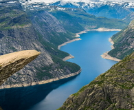 Amazing nature view with Trolltunga