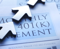 Arrows Pointing In Positive Direction On 401(k) Statement