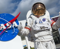 Astronaut suit in Cape Canaveral Florida USA
