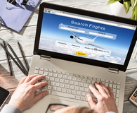 Booking flight travel traveler search reservation holiday page