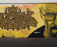 Breaking Bad fan graffiti art
