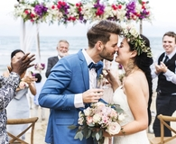 Couple getting married with wedding insurance