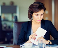 Businesswoman under stress