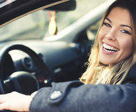 Woman saying magic words to get best new car price