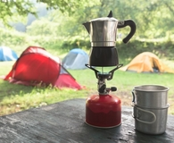 Using the best camping coffee maker