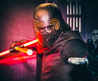 Cosplay as Kylo Ren from Star Wars