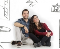 Couple dreaming of a home remodel