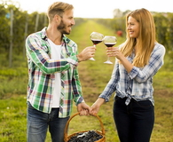 Couple in the vineyard