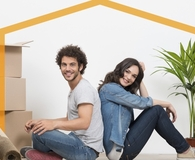 Millennial couple deciding to invest in a home