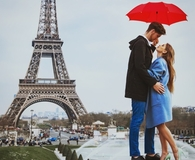 Couple on vacation with travel insurance policy