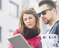 Couple discovering apartment hunting mistakes to avoid