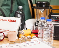Emergency preparedness checklist and natural disaster supplies