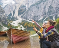 Couple adding items to their fall bucket list