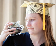 Graduating Student Worrying About Career Path and Financial Future