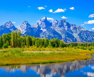 Grand Tetons mountains, Snake River