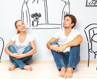 'Happy couple in new apartment dream and plan interior' from the web at 'http://wisebread.killeracesmedia.netdna-cdn.com/files/fruganomics/imagecache/195x160a/blog-images/happy_couple_in_new_apartment_dream_and_plan_interior.jpg'
