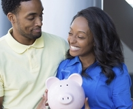 Couple learning what no to do when sharing finances