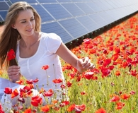 Woman saving on energy and going solar