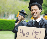College grad learning how to get ahead on the job hunt